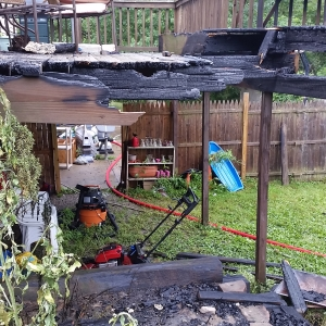 08-03-2015 Bushy Ridge Court Deck Fire